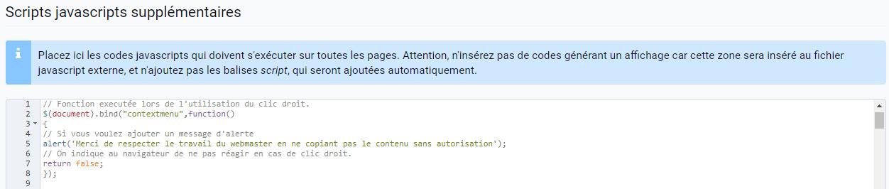 Empêcher le clic droit sur son site avec du code Javascript