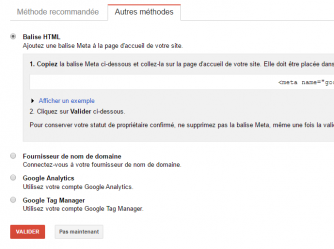 Ajouter et valider son site sur google search console 2