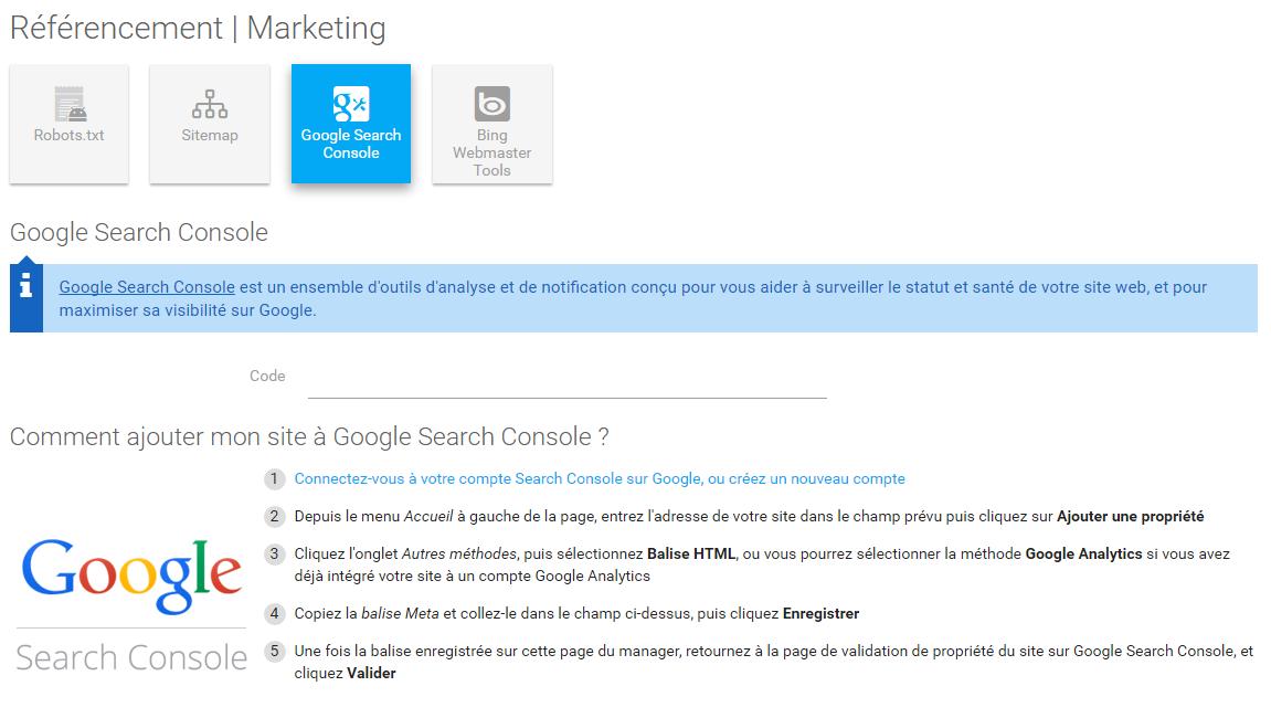 Ajouter et valider son site sur google search console 4