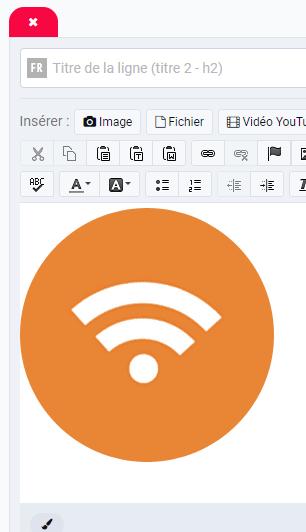 Ajouter un icone flux rss