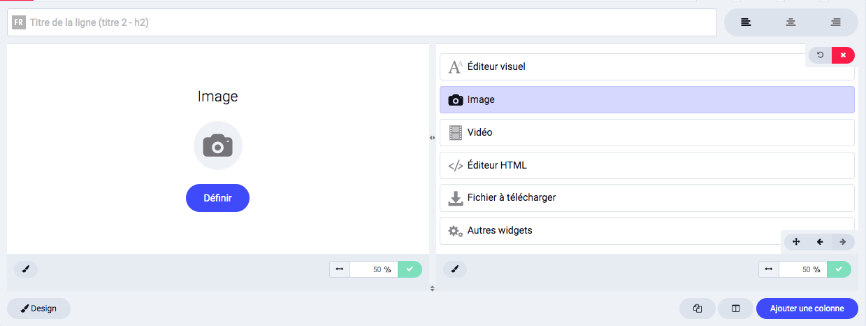 Ajouter une image dans une page avec le widget Image