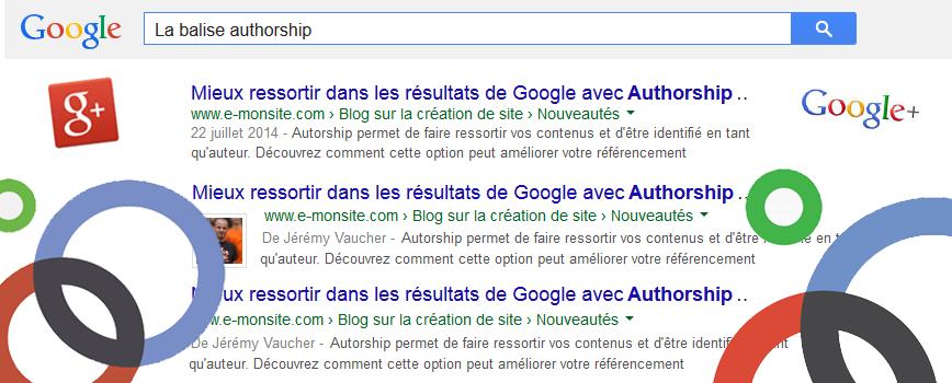 Authorship avec Google+