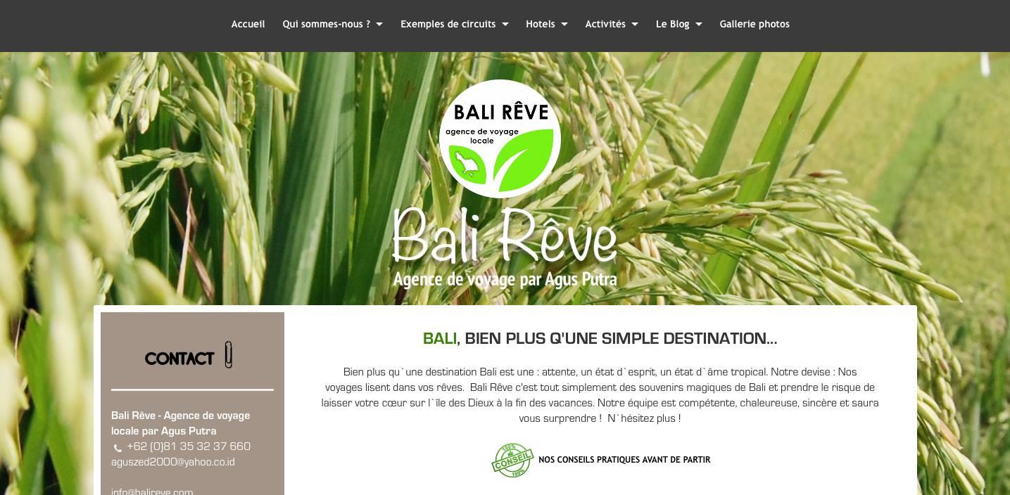 Bali reve apres