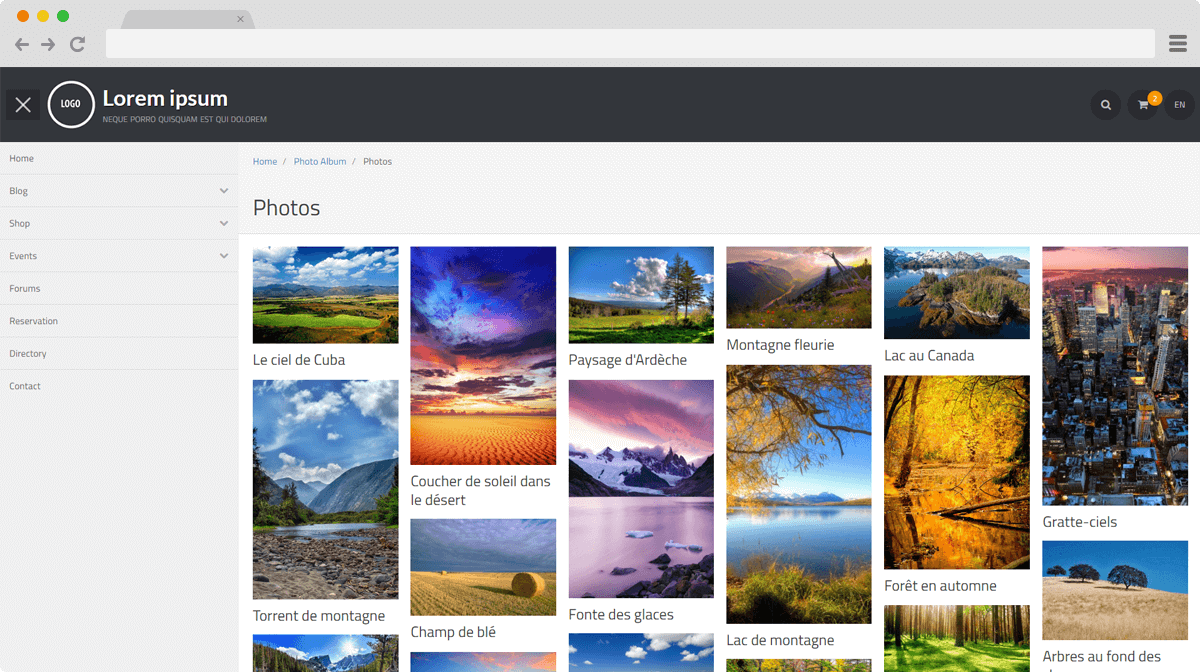 Effet masonry sur vos galeries photos