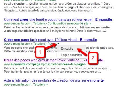 Cache Google