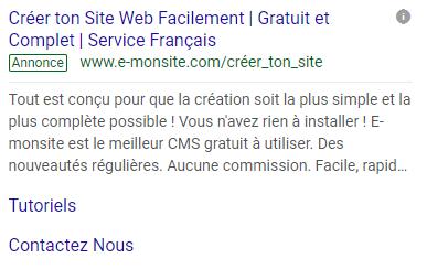 Campagne Google Search
