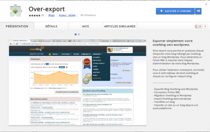 Application Over-Export pour Google Chrome