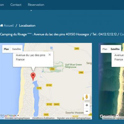 Carte Google Maps dans une page
