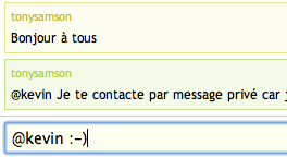 Messages de chat