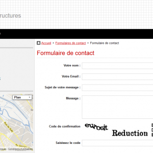 La page Contact