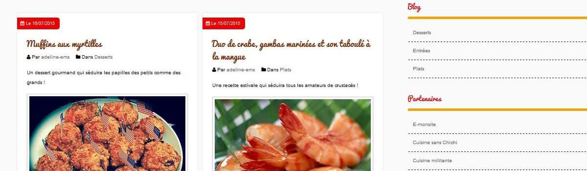 Le blog cuisine d 39 e monsite est en ligne for Creation cuisine en ligne