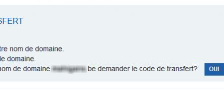 Demande code 1