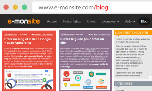 Le blog d'e-monsite