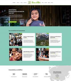 Modèle de site pour une association humanitaire avec e-monsite