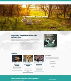 Modèle de site pour une association de protection animale avec e-monsite