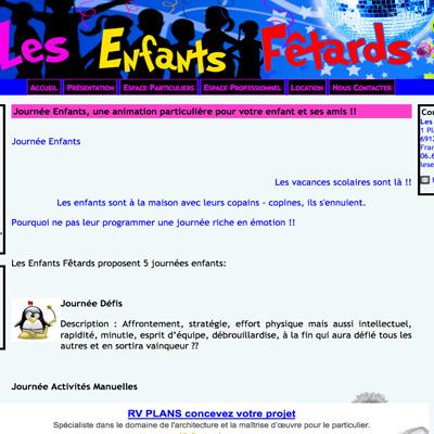 Enfants fetards avant
