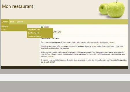 Un menu déroulant à 3 niveaux