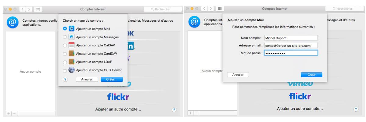 configurer mail free sur mail mac