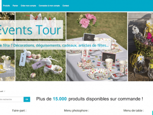 Events tour de corations de guisements et articles de fe tes