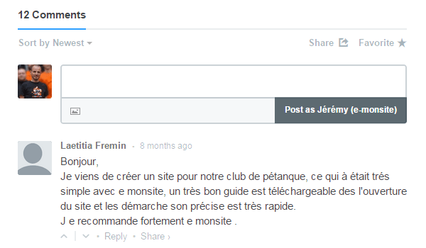 Exemple disqus