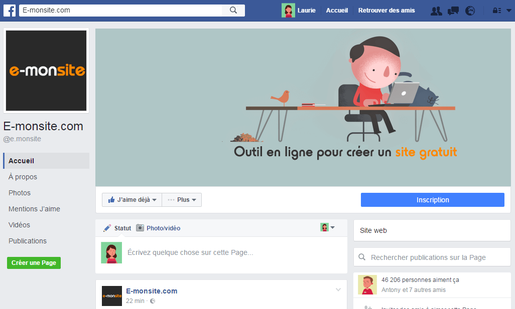 Facebook d'e-monsite