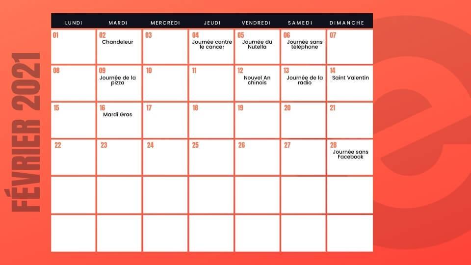 Fevrier calendrier marketing emonsite