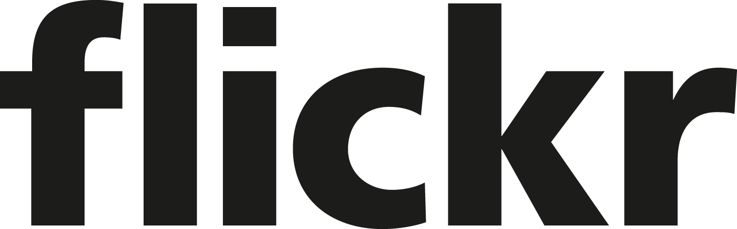Flicker logo black