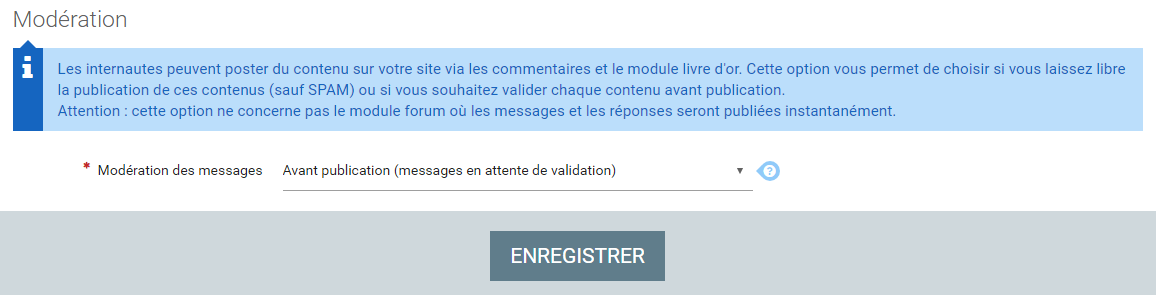 Moderation commentaires