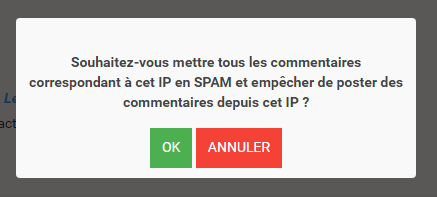 Commentaire spam
