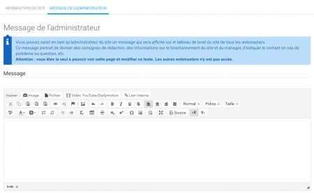 Envoyer un message à son webmaster