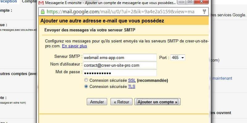 Gmail smtp tls