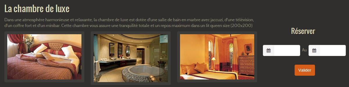 proposer aux internautes de réserver une chambre d'hôtel