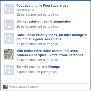 recommandations facebook