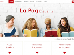 Lapage events website