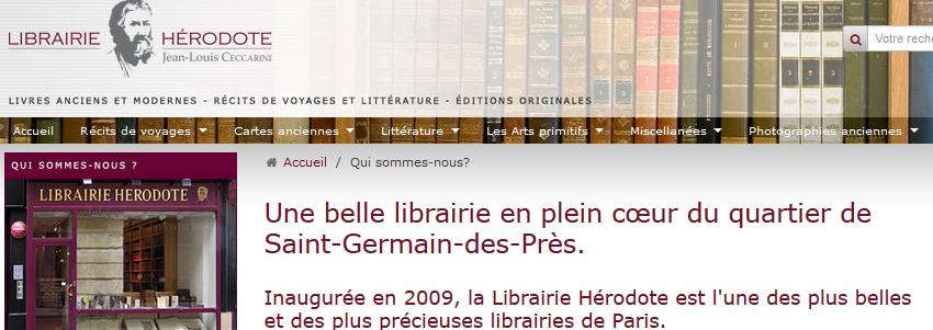Librairie Hérodote