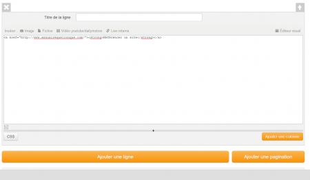 Afficher un lien retour (code html)