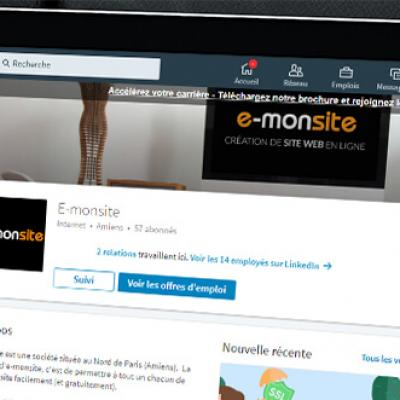 Linkedin e monsite