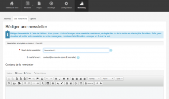 Rédiger une newsletter