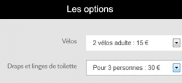 Options reservation