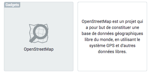 Open Street Map dans E-monsite