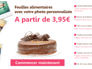 Photo sur gateau