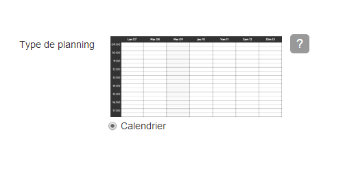 Planning calendrier