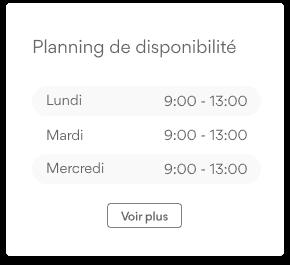 Planning disponibilite
