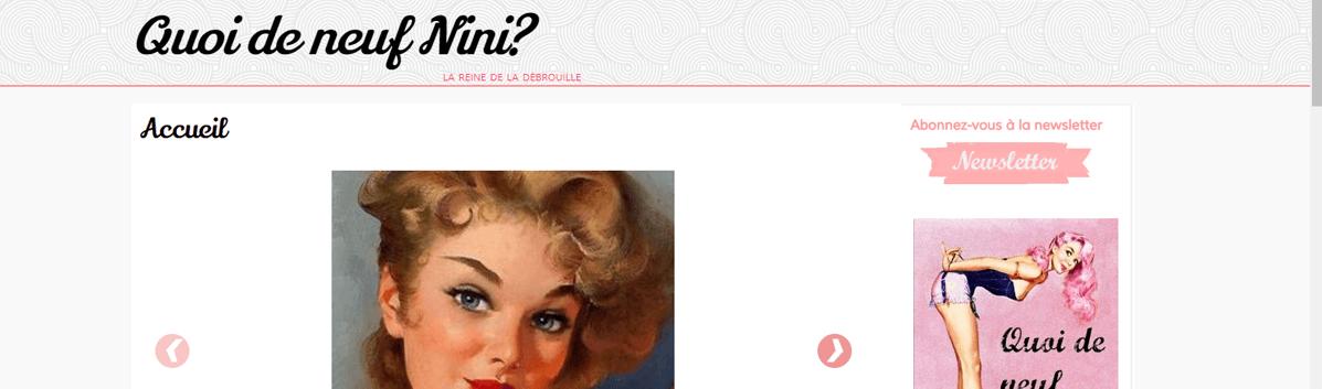 Quoi de neuf Nini ?