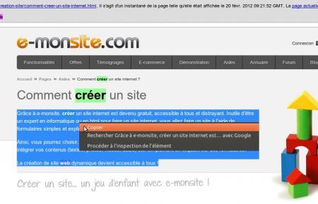 Récuper contenu cache google