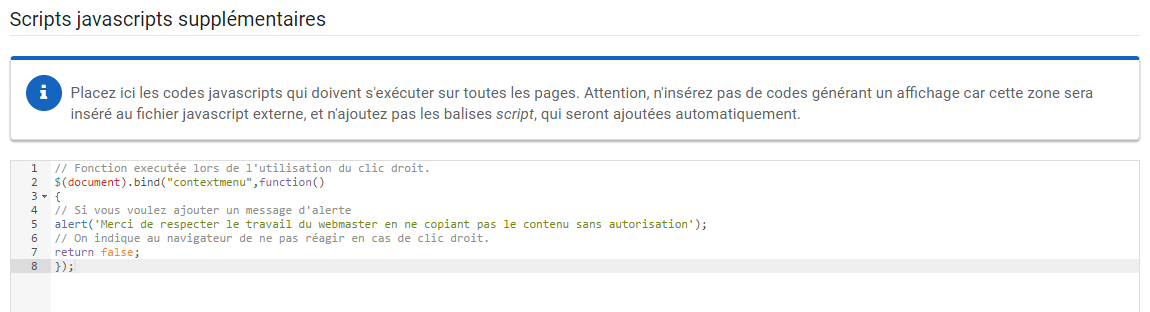 Script anti clic droit