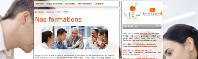 Site de formation web - View Training
