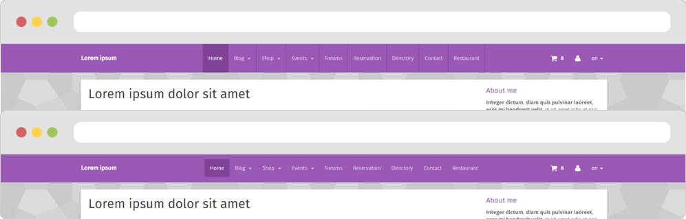 Hauteur des liens du menu horizontal sur le thème Smart