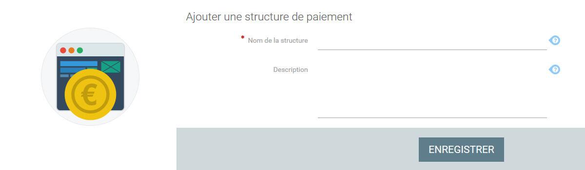 Structure paiement