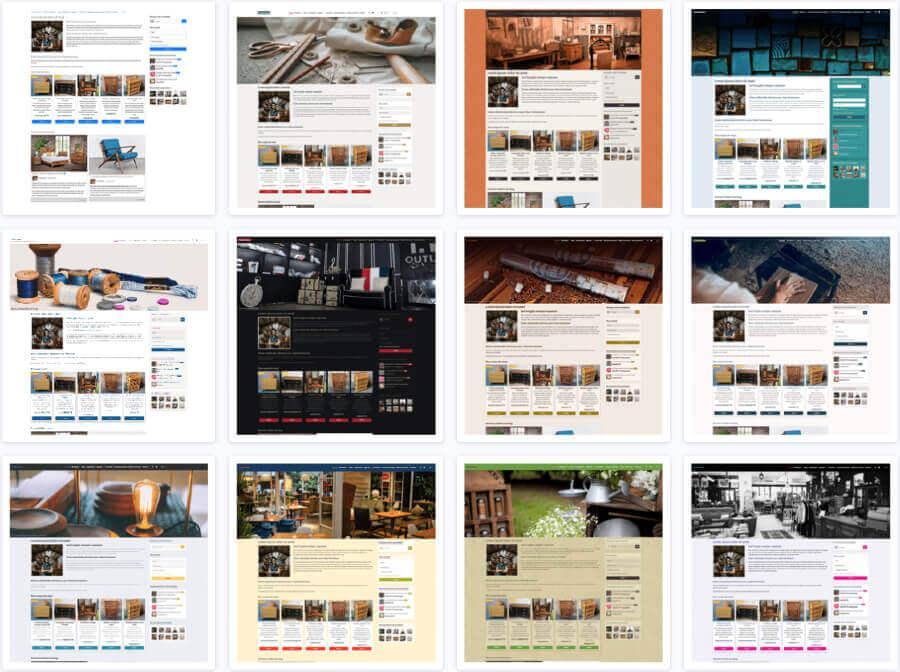 Themes graphiques site web